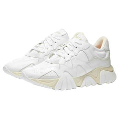 New VERSACE SQUALO WHITE CALF-HAIR TRAINERS 41-8; 42.5-9.5; 43-10; 45-12; 46-13