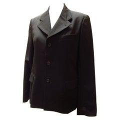Comme Des Garçons Black Gabardine Jacket