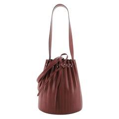 Mansur Gavriel Pleated Bucket Bag Leather Medium