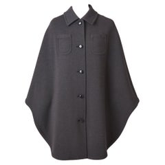 Kimberly Knit Charcoal Grey Cape