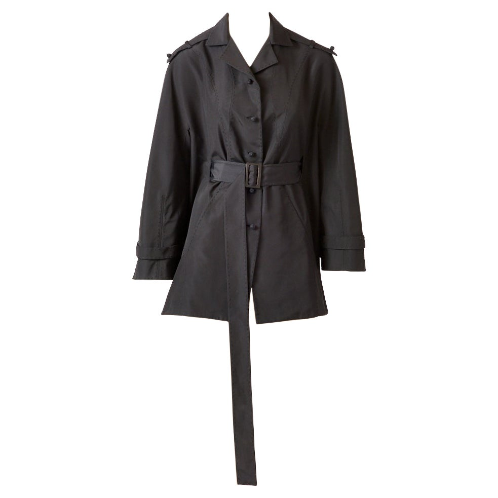 Chado Ralph Rucci  Couture Belted Silk Jacket