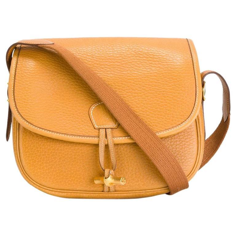 Rare Hermes Duffle Bamboo Handbag 1983 1