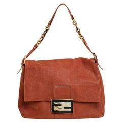 Fendi Brown Shimmer Leather Mama Forever Shoulder Bag