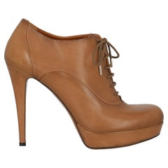 Gucci Women Ankle boots Camel Color Leather EU 38.5