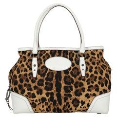 Dolce & Gabbana Women Shoulder bags Black, Camel Color, White Fabric