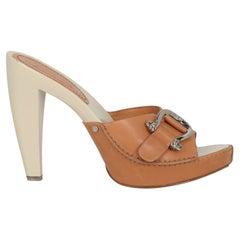 Celine Women Sandals Camel Color Leather EU 41