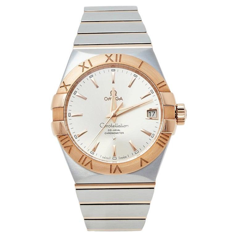 Omega 18K Rose Gold & Stainless Steel Constellation Men's Wristwatch 38 mm