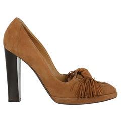 Hermès Women Pumps Brown Leather EU 37