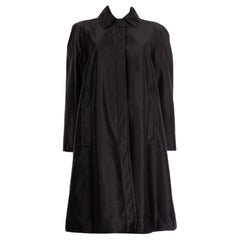 JIL SANDER NAVY black Knit Jacket Coat 40 L