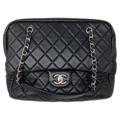 Chanel Black Bowler Tote Bag