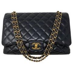 Chanel Black Maxi Double Flap Bag