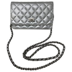 Chanel Silver Reissue Wallet On A Chain Bag