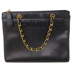 Chanel Vintage Black Tote Bag
