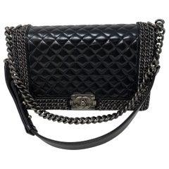 Chanel Black Chain Around Boy Bag