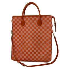 Louis Vuitton Orange Checkered Bag