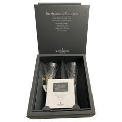 Waterford HAPPINESS Crystal Millennium Champagne Toasting Flute made in Germany