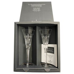 Waterford HEALTH Crystal Millennium Champagne Toasting Flute Set  - Italy