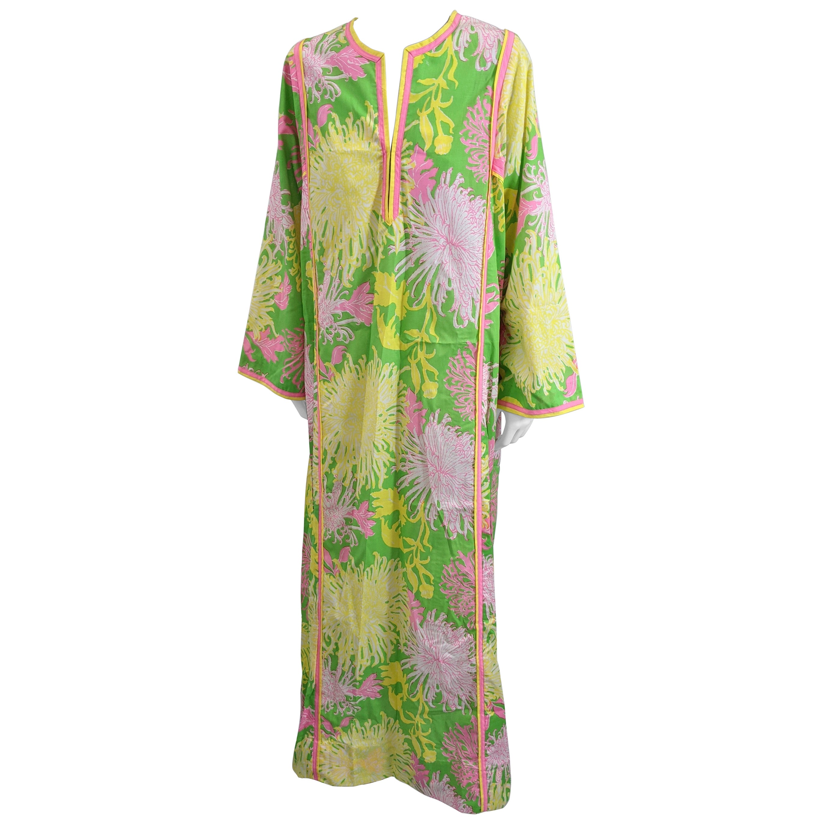 Lilly Pulitzer Floral Print Caftan