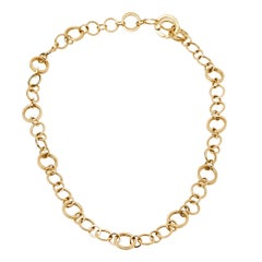 Tiffany & Co. 18K Yellow Gold Circle Chain Link Necklace