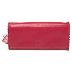 Loewe Red Leather Continental Wallet