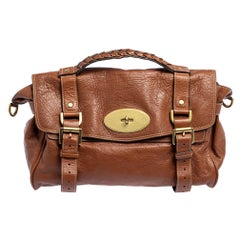Mulberry Brown Leather Alexa Satchel