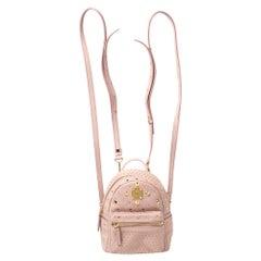 MCM Baby Pink Leather X Mini Studded Stark-Bebe Boo Backpack