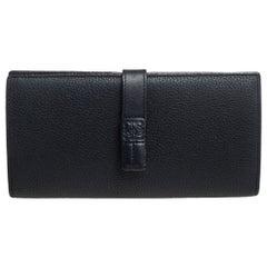 Loewe Black Leather Continental Wallet