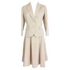 Max Mara Beige Cotton Suit Skirt