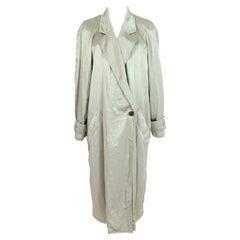 Jean Claude Light Green Soft Long Trench Coat