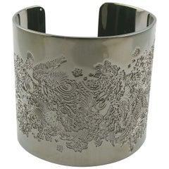 Jean Paul Gaultier Ruthenium Colour Japanese Koi Fish Tattoo Cuff Bracelet
