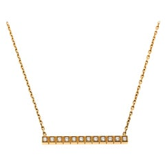 Chopard Ice Cube Pure Diamond 18K Yellow Gold Necklace