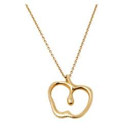 Tiffany & Co. Elsa Peretti Apple 18K Yellow Gold Pendant Necklace