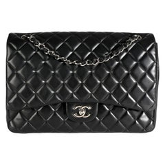 Chanel Black Quilted Maxi Classic Single Flap Bag