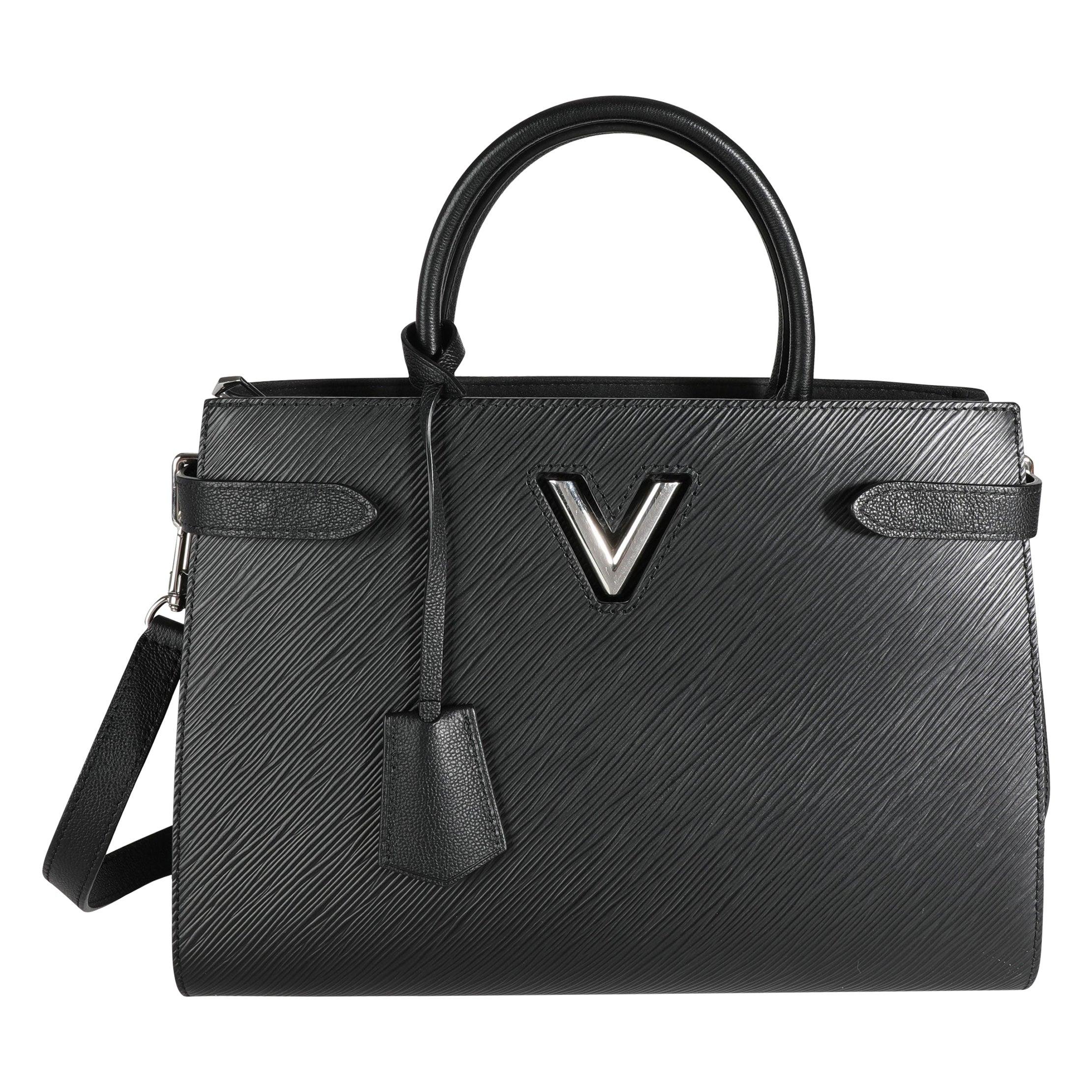 Louis Vuitton Black Epi Leather Twist Tote