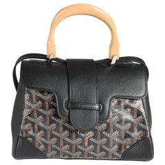 Goyard Black Goyardine Mini Saigon Bag