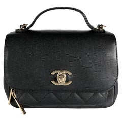 Chanel Black Quilted Caviar Mini Business Affinity Flap Bag