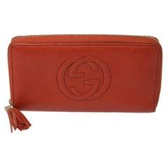 Gucci Orange Leather Soho Wallet