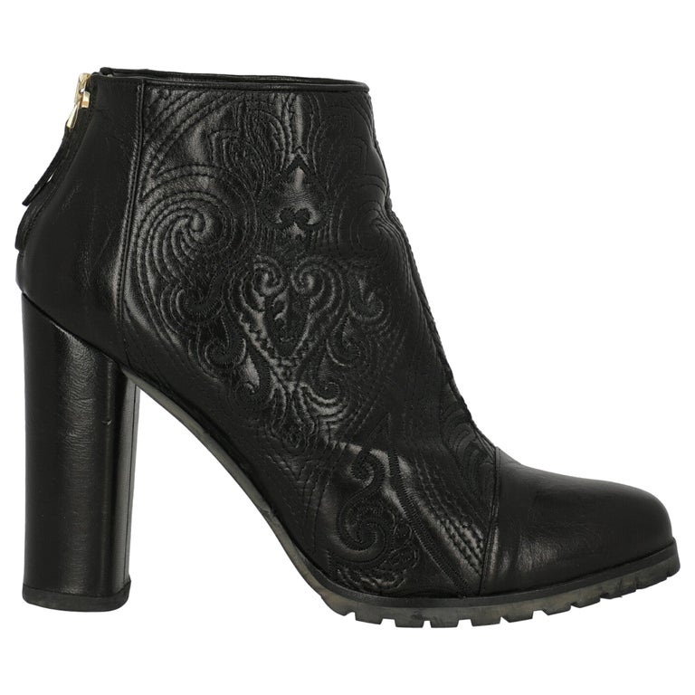 Etro Women Ankle boots Black Leather EU 40.5 For Sale