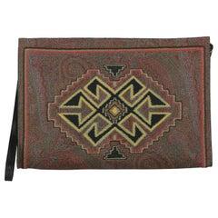 Etro Women Handbags Brown, Multicolor, Red Synthetic Fibers