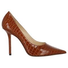 Jimmy Choo Women Pumps Brown Leather EU 37.5