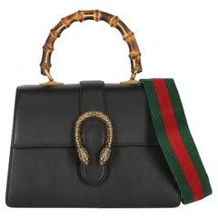 Gucci Women Handbags Dionysus Black Leather
