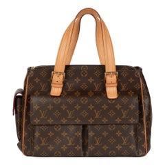 2003 Louis Vuitton Brown Monogram Coated Canvas & Vachetta Leather Multipli Cite