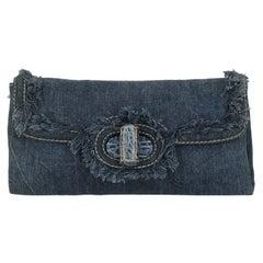 Prada Women Handbags Blue Cotton