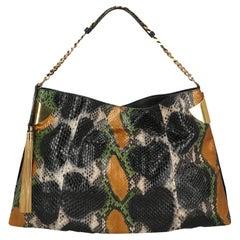 Gucci Women Handbags Black, Green, Gold Leather