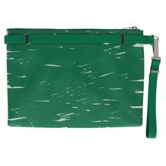 Balenciaga Women Handbags Green, White Leather