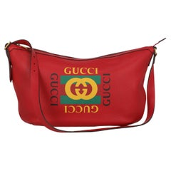Gucci Women Shoulder bags Red Leather