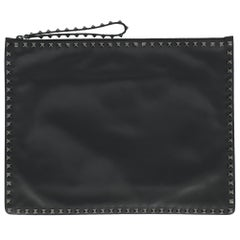 Valentino Women Handbags Grey Leather