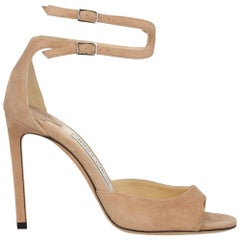 Jimmy Choo Women Sandals Pink Leather EU 35