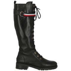 Tommy Hilfiger Women Boots Black Leather EU 41