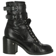 Laurence Dacade Women Ankle boots Black Leather EU 39